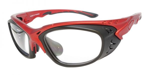 J137 Prescription  Safety Glasses Red